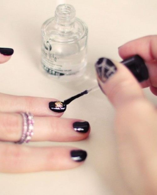 Festive And Glam DIY Halloween Manicure