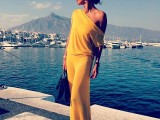a one shoulder yellow maxi dress will help you make a bold and sexy statement with your look