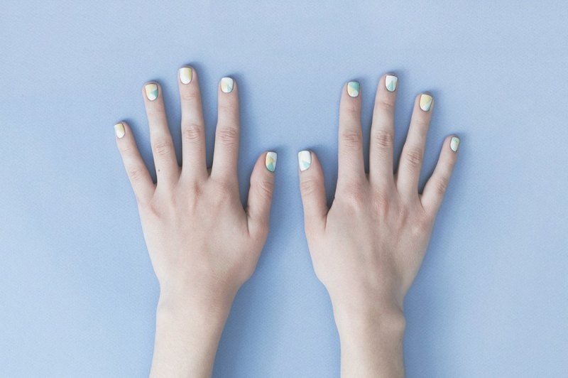 Picture Of fresh and lovely diy geometric nail art to try now  1