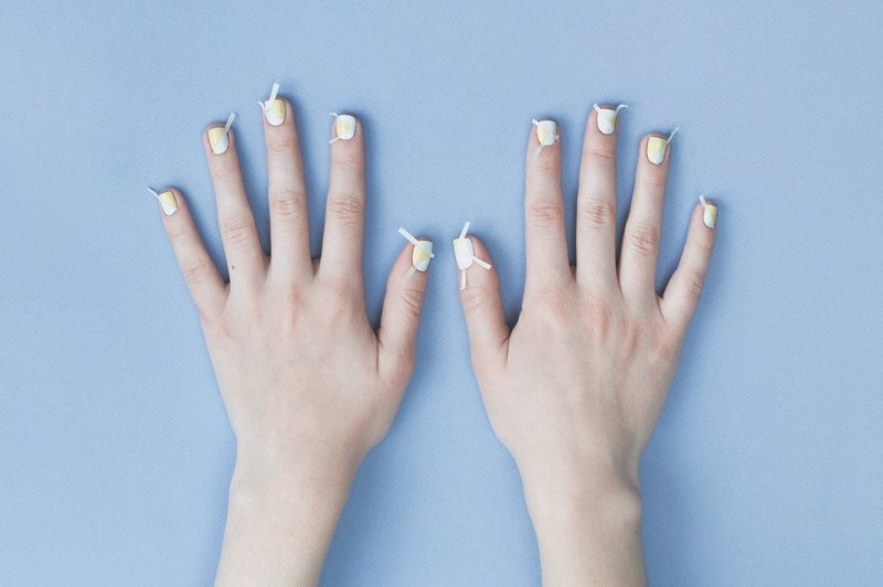 Picture Of fresh and lovely diy geometric nail art to try now  4