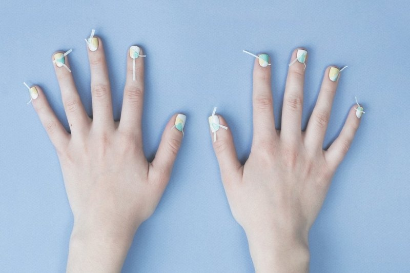 Picture Of fresh and lovely diy geometric nail art to try now  5