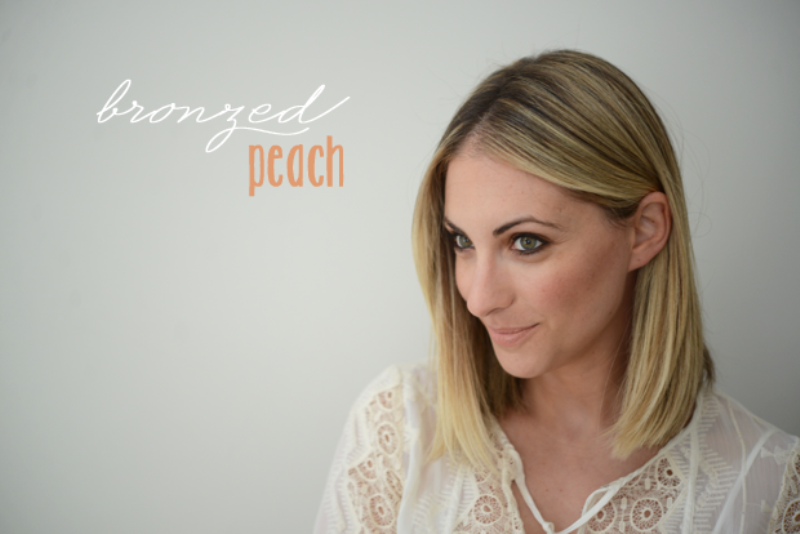Picture Of fresh and pretty diy summer bronzed peach makeup  1