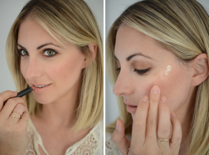 Picture Of fresh and pretty diy summer bronzed peach makeup  5