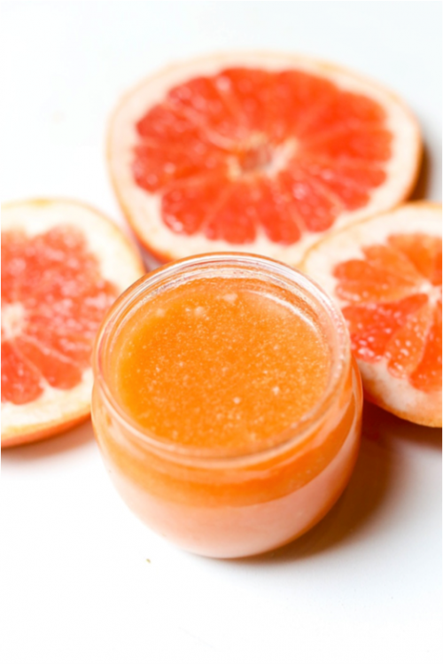Fresh DIY Grapefruit Sugar Body Scrub