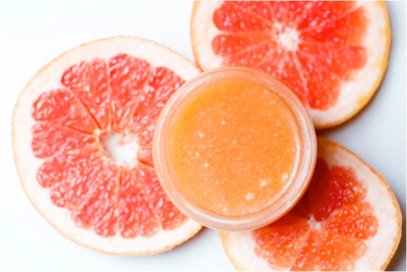 Picture Of fresh diy grapefruit sugar body scrub  2