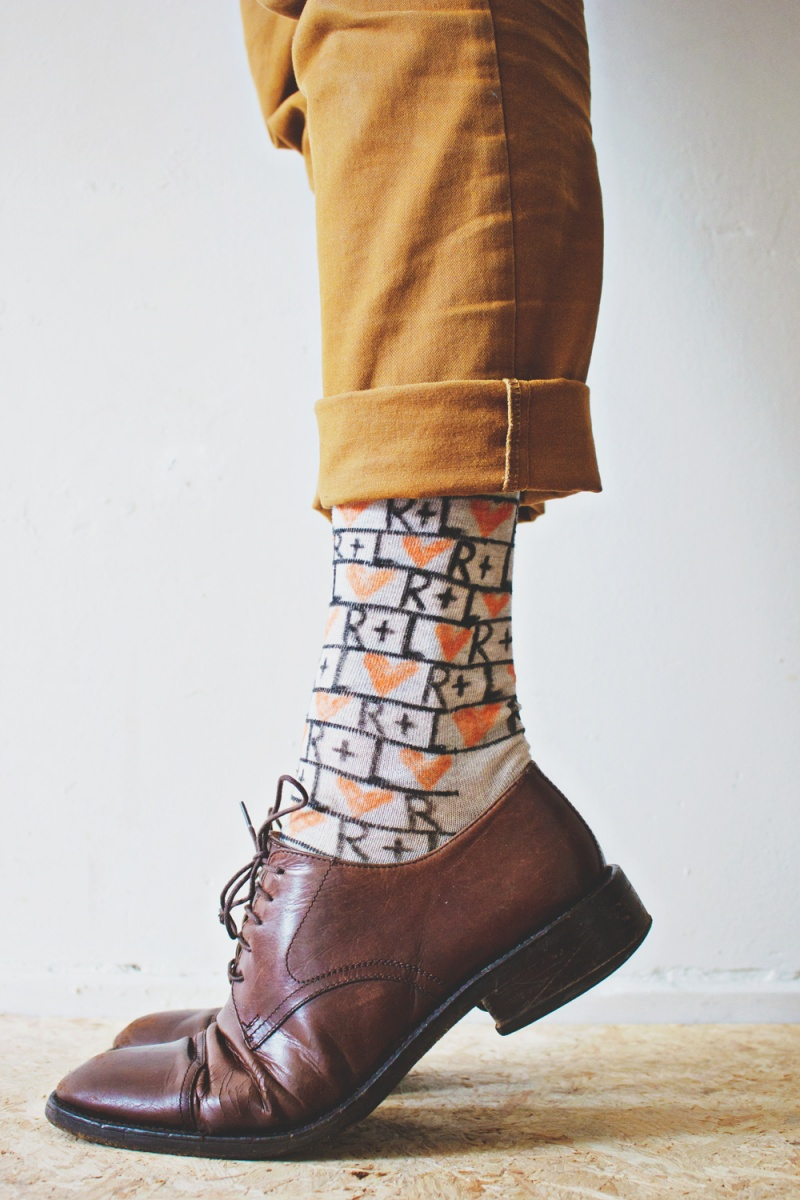Picture Of fun and creative diy personalized men socks  1