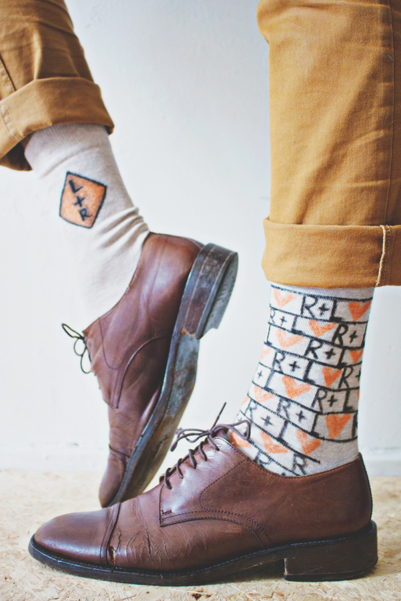 Picture Of fun and creative diy personalized men socks  5