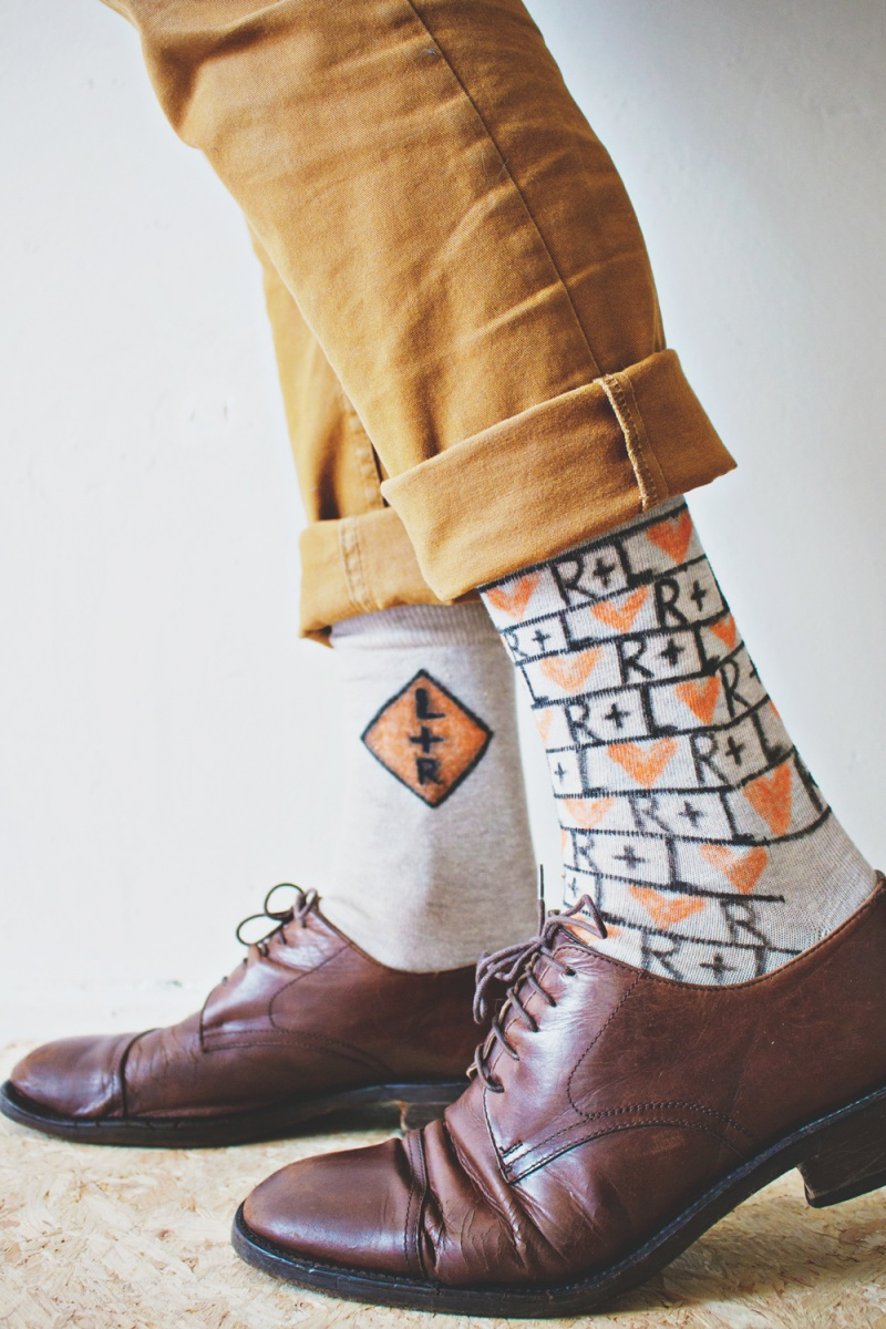 Picture Of fun and creative diy personalized men socks  8