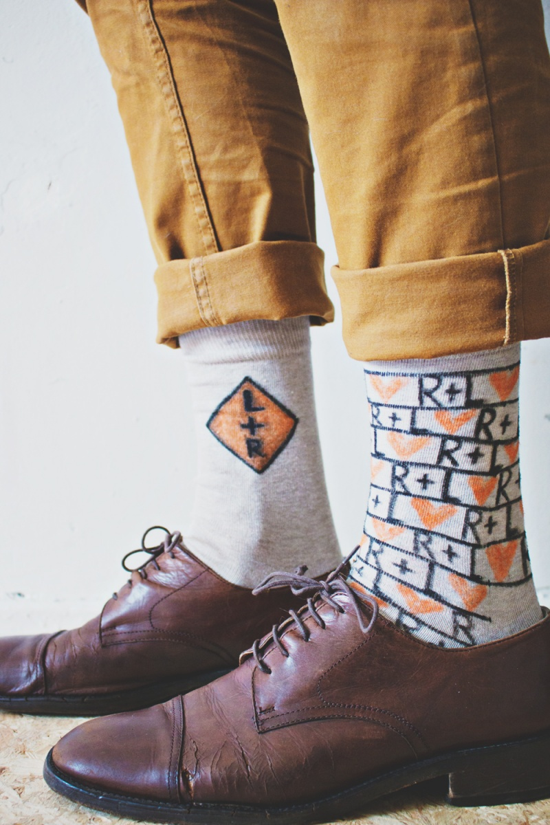 Picture Of fun and creative diy personalized men socks  9
