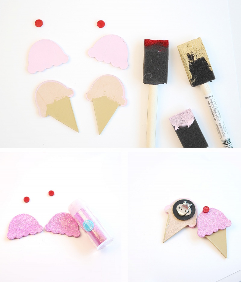 Picture Of fun and cute diy ice cream cones flats  2