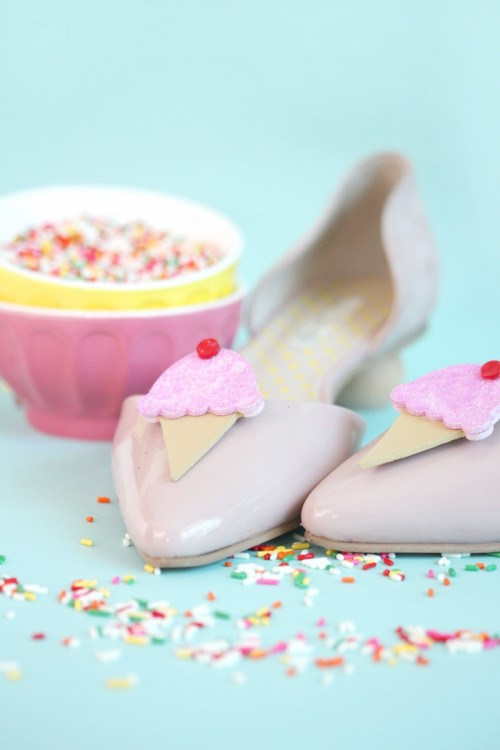 Fun And Cute DIY Ice Cream Cones Flats