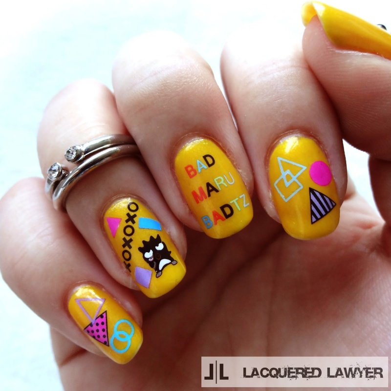 Picture Of fun diy bad badtz maru manicure  1