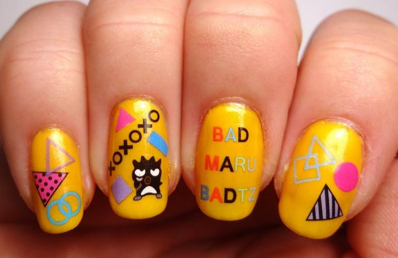 Picture Of fun diy bad badtz maru manicure  3