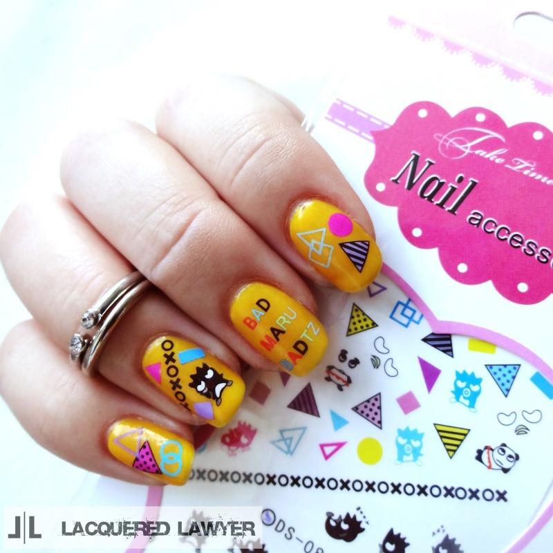 Picture Of fun diy bad badtz maru manicure  4