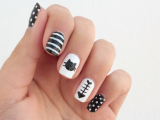 funny-diy-black-and-white-cat-nails-2