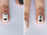 funny-diy-black-and-white-cat-nails-5