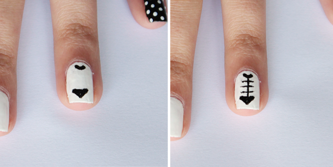 Picture Of funny diy black and white cat nails  5