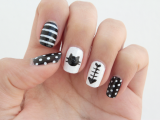 funny-diy-black-and-white-cat-nails-6