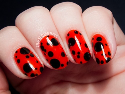Funny DIY Ladybird Inspired Nail Art For Summer