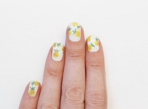 Funny DIY Pineapple Nail Art To Try