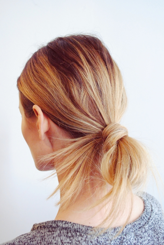 Picture Of fuss free diy messy looped ponytail for everyday wear  1