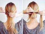 fuss-free-diy-messy-looped-ponytail-for-everyday-wear-2