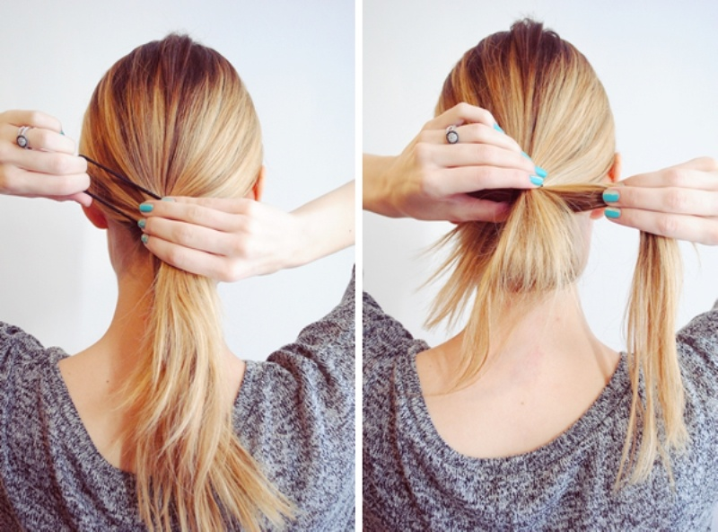 Picture Of fuss free diy messy looped ponytail for everyday wear  2