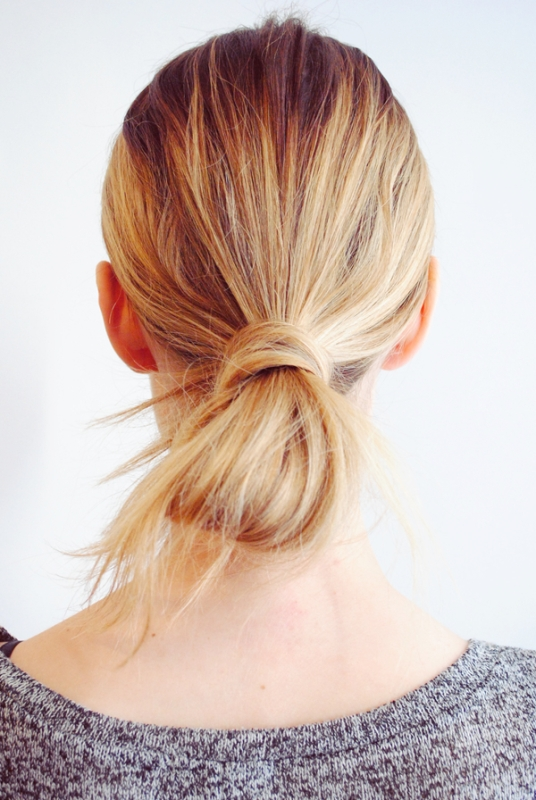 Picture Of fuss free diy messy looped ponytail for everyday wear  3