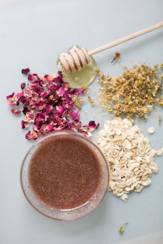 Picture Of gentle diy rose chamomile face scrub to try  3