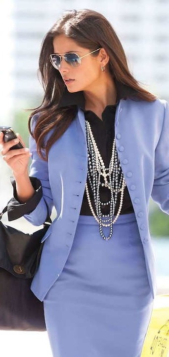 Picture Of girlish and romantic lavender work outfits  10