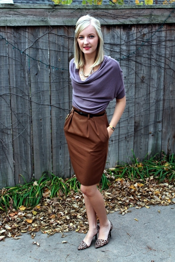 Picture Of girlish and romantic lavender work outfits  12