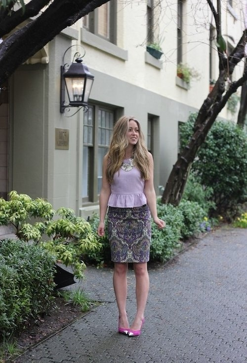 Picture Of girlish and romantic lavender work outfits  14