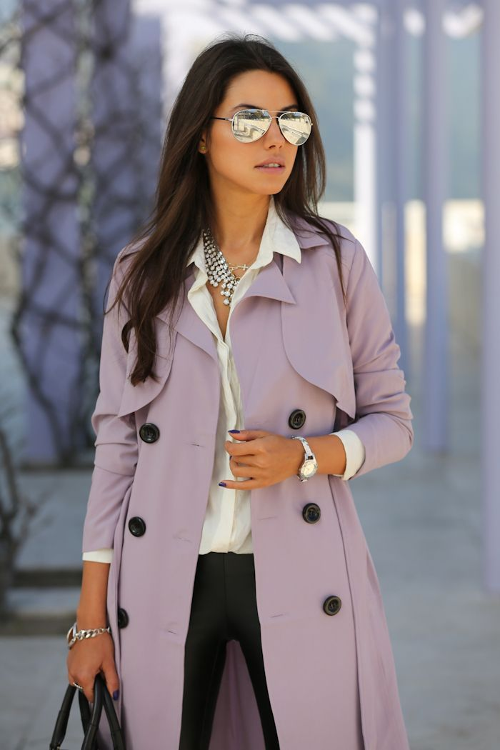 Picture Of girlish and romantic lavender work outfits  2