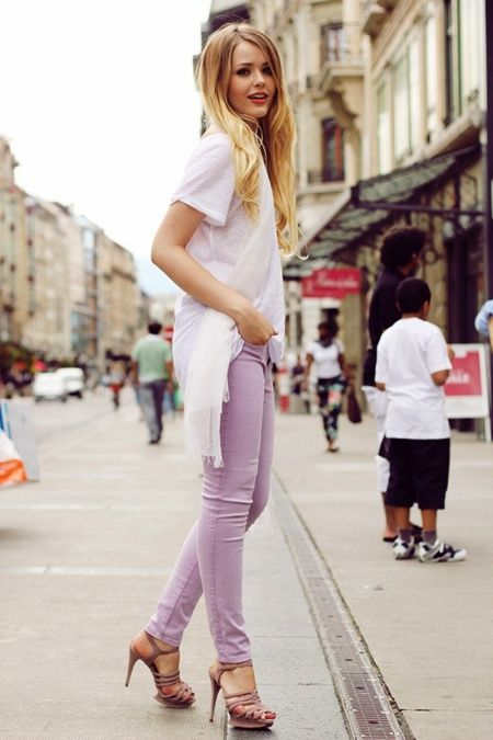 Picture Of girlish and romantic lavender work outfits  7