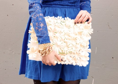 craft flowers clutch (via styleoholic)