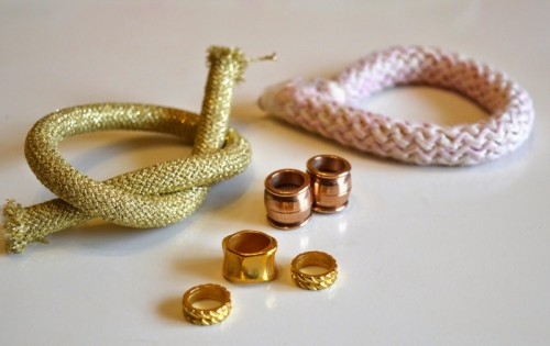 Girlish DIY Gold And Pink Statement Necklace