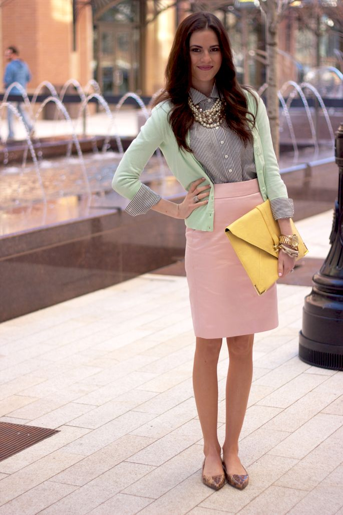 Picture Of girlish pastel work outfits for this spring  13