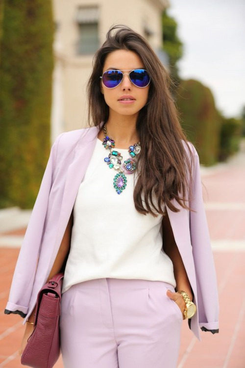 22 Girlish Pastel Work Outfits For This Spring