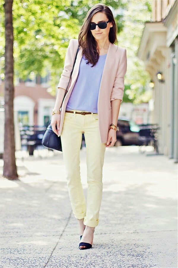 Picture Of girlish pastel work outfits for this spring  19