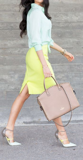 Picture Of girlish pastel work outfits for this spring  7