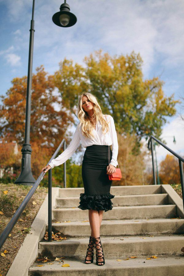 Picture Of girlish ruffle work outfits for stylish ladies  18