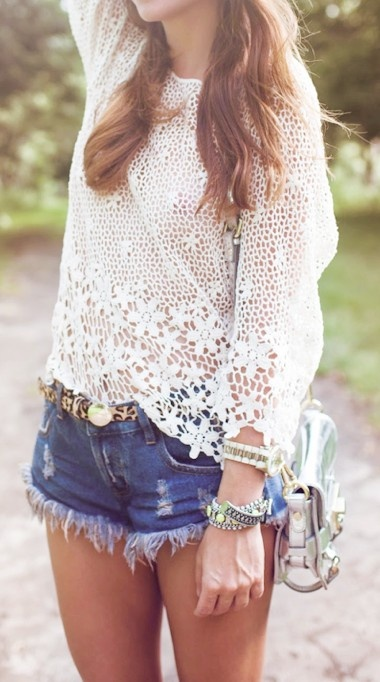Picture Of girlish summer lace tops to get inspired  1