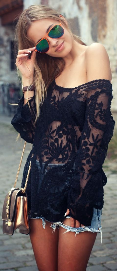 Picture Of girlish summer lace tops to get inspired  17