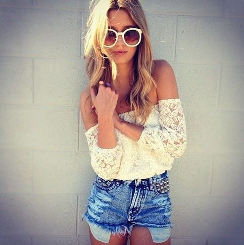 Picture Of girlish summer lace tops to get inspired  20