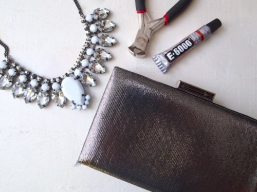 Glam DIY Jeweled Clutch For Parties