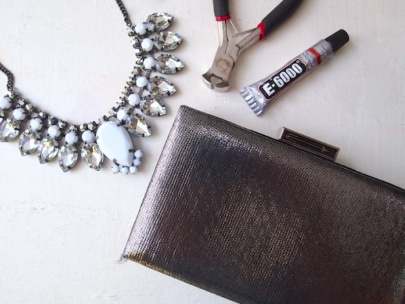 Picture Of glam diy jeweled clutch  2