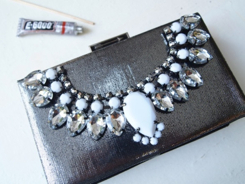 Picture Of glam diy jeweled clutch  4