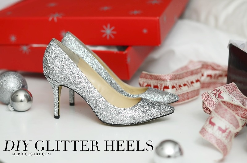 Picture Of glam diy sparkle pumps for christmas party  1