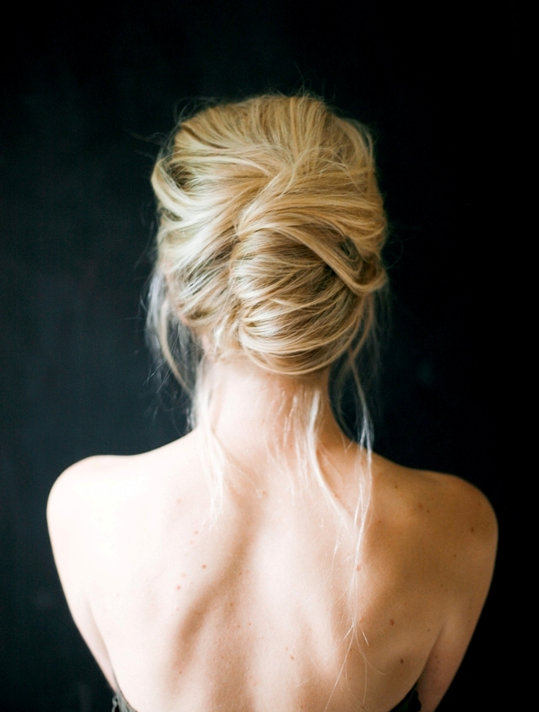 Picture Of glamorous diy messy french twist hairstyle  1
