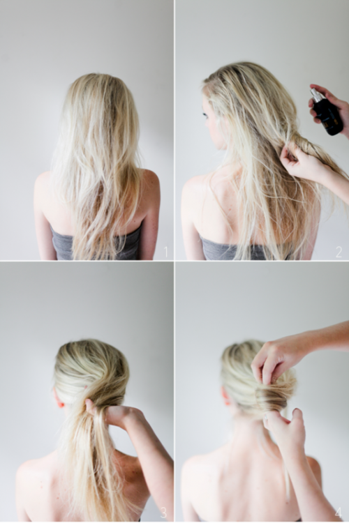 Glamorous DIY Messy French Twist Hairstyle